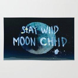 Stay wild moon child (dark) Rug