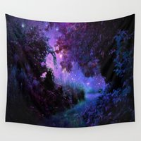 fantasy Wall Tapestries featuring Fantasy Path Purple by 2sweet4words Designs