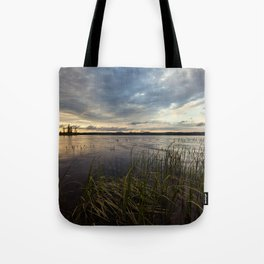 sunset on south bay Tote Bag