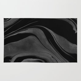 Black and White Ink Marbling 08 Rug
