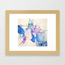 The turtle is blind Framed Art Print
