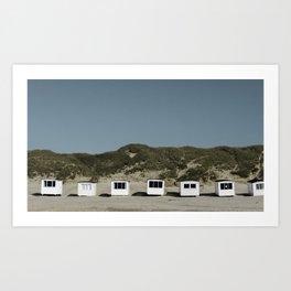 Beach houses in Denmark Art Print