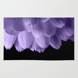 Ultra violet purple flower petals black Rug