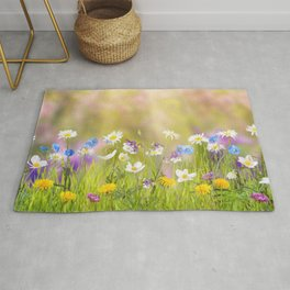 Magnificent Colorful Flower Petals UHD Rug