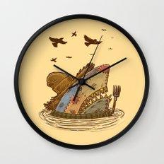 The Scarecrow Shark Wall Clock