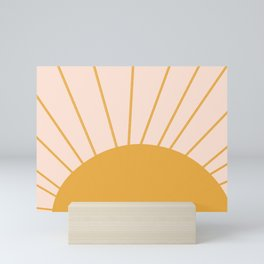 oh hi there sun ii Mini Art Print