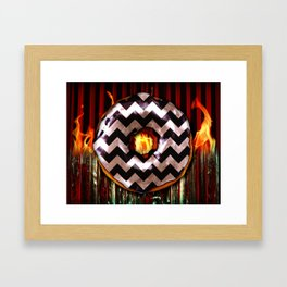 Donut From Another Place Framed Art Print