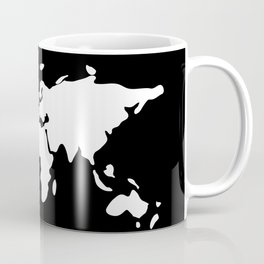 white modern world map Coffee Mug