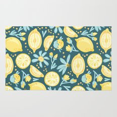 Lemon Pattern Green Rug