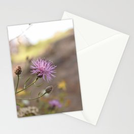 Purple Flowers Vintage on the Beach Stationery Cards