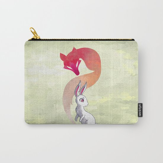 Rabbit and a Fox Carry-All Pouch