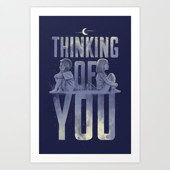 'Thinking of You' Art Print