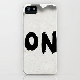 Don't (Paper Version) iPhone Case