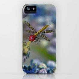 The March hare and the dragonfly in the abyss iPhone Case