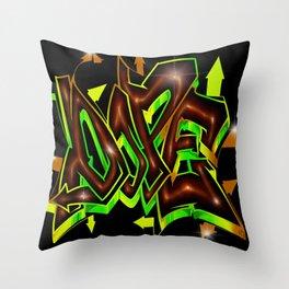 DOPE Graffiti Throw Pillow