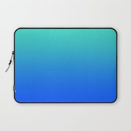 Bright Turquoise Blue Lagoon Ombre Laptop Sleeve