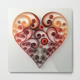 Quilling Heart 1 Metal Print