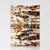 giraffes Stationery Cards featuring Giraffes by RIZA PEKER