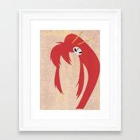 gurren lagann Framed Art Prints featuring Minimalist Yoko by 5eth