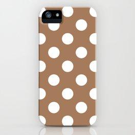 Café au lait - violet - White Polka Dots - Pois Pattern iPhone Case