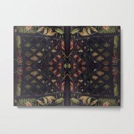 Tropical Latticework Pattern Metal Print