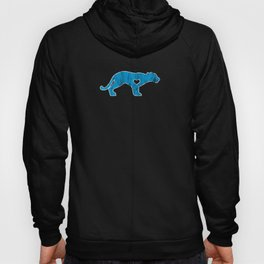 Panther Mountain Lion Puma Big Cat Sports Mascot I Love Panther Blue Hoody