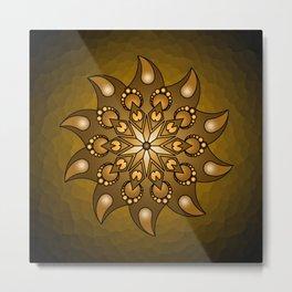 Pure gold mandala Metal Print
