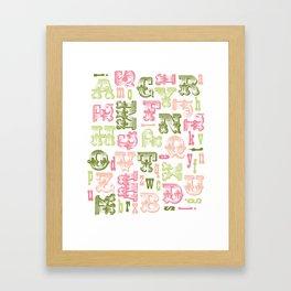 Alphabet Print Framed Art Print
