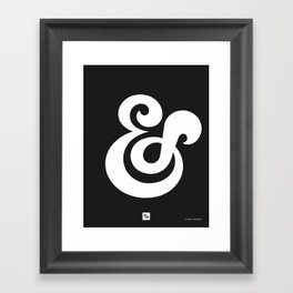 Ampersand II Framed Art Print