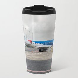The plane at the airport Travel Mug