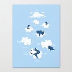 Puzzle Ice  Canvas Print