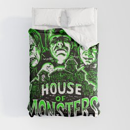 House of Monsters Phantom Frankenstein Dracula classic horror Comforters