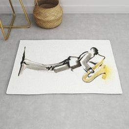 Musician Saxophonist Drawing Series Rug