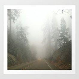 Road Trip to Sequoia Art Print