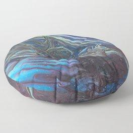 Oil Slick Flow - Acrylic Pour Original Painting Art Floor Pillow