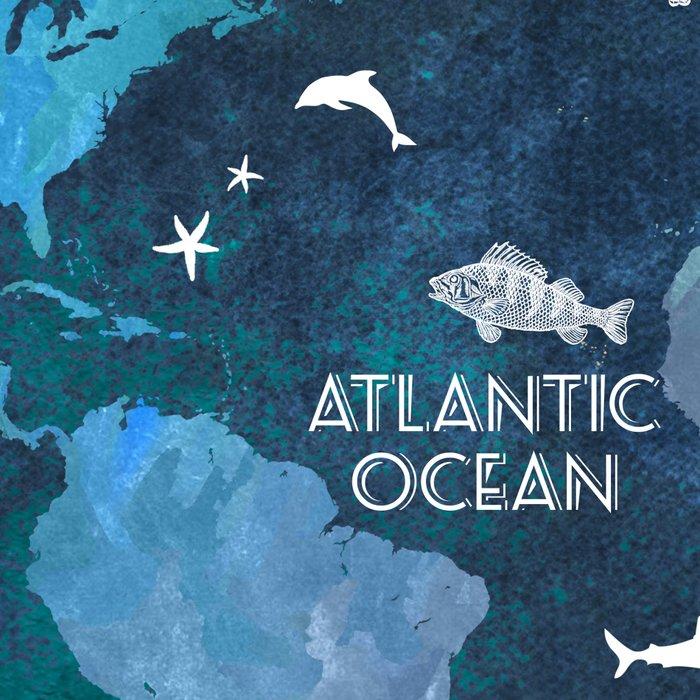 Ocean World Map color #map #worldmap Leggings
