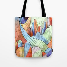 coral Mountains Tote Bag