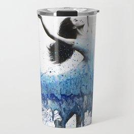 Blue Wave Dancer Travel Mug