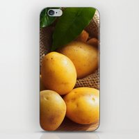 potato iPhone & iPod Skins featuring potato sack by Tanja Riedel