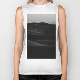 Dark Modern Minimalist Landscape Desert Dunes Biker Tank