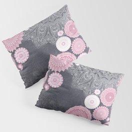 FESTIVAL FLOW - PINK GREY Pillow Sham