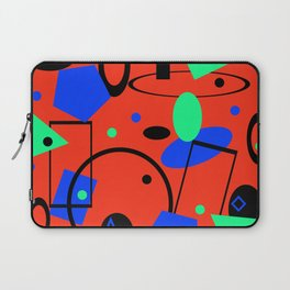 Retro abstract red print Laptop Sleeve