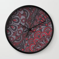 classy Wall Clocks featuring Classy  by Doodle Art Designs by Dwyanna Stoltzfus