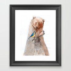 Bear, Hare and Tit Framed Art Print