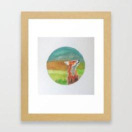 Rounded fox Framed Art Print