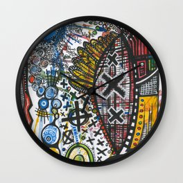 Feathers or Rockets Wall Clock
