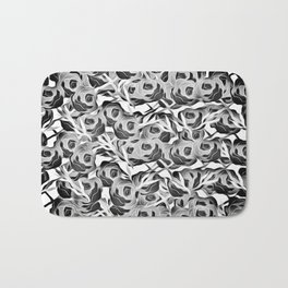 Bunches in Black and white Bath Mat