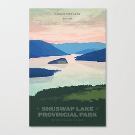Shuswap Lake Provincial Park Canvas Print