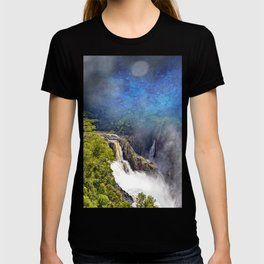 Wild waterfall in abstract T-shirt