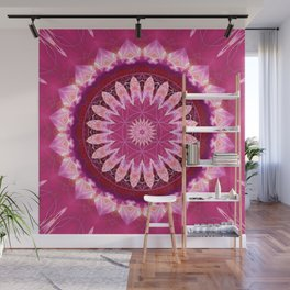 Mandala pink Blossom with flower of life Wall Mural